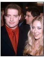 Brendan Fraser and wife at the Bedazzled premiere