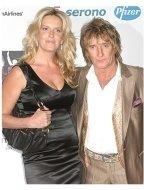Rod Stewart with fiancée Penny Lancaster