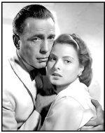 "Casablanca movie still: Humphrey Bogart and Ingrid Bergman in ""Casablanca"""