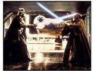 Star Wars: Episode IV - A New Hope movie still: Darth Vader and Ob1-Wan Kenobi