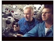"""""""Ghosts of the Abyss"""" movie stills: James Cameron and Bill Paxton"""