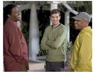 Guess Who Movie Stills: Bernie Mac, Ashton Kutcher and director Kevin Rodney Sullivan