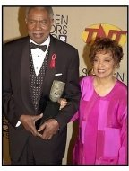 Ossie Davis and Ruby Dee backstage at the SAG Awards 2001