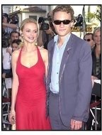 Heath Ledger and Heather Graham at the A Knight's Tale premiere