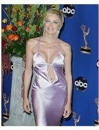 Sharon Stone backstage at the 2004 Emmy Awards