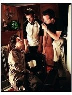 """The Battle of Shaker Heights"" Movie still: Shia La Beouf (L) and directors Efram Potelle and Kyle Rankin"
