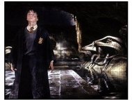 Harry Potter and the Chamber of Secrets movie still: Daniel Radcliffe as Harry Potter in Harry Potter and the Chamber of Secrets