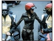 """Biker Boyz"" movie still: Megan Good with Brendan Fehr and Primo Gonzales in"