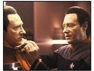 Star Trek Nemesis movie still: B-4 is attended to by Lt. Data (Brent Spiner) in Star Trek Nemesis