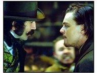 Gangs of New York movie still: Daniel Day-Lewis and Leonardo DiCaprio in Gangs of New York