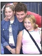 David Hasselhoff and daughters at the Monsters Inc premiere