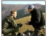 Behind Enemy Lines movie still: On location in Slovakia, Owen Wilson and director John Moore