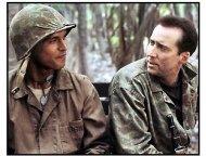 Windtalkers movie still: Adam Beach and Nicolas Cage