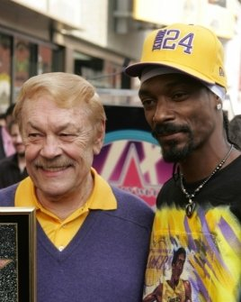 Jerry Buss and Snoop Dogg