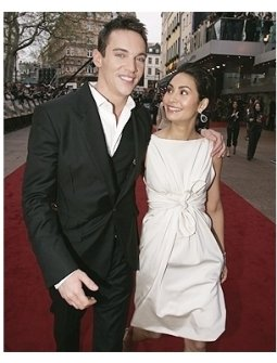 Jonathan Rhys Meyers and fiance Reena Hammer at the London Premiere of  Mission: Impossible III