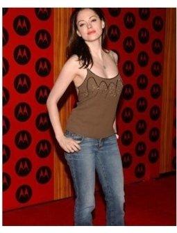 Rose McGowan at the 2004 Motorola Holiday Party