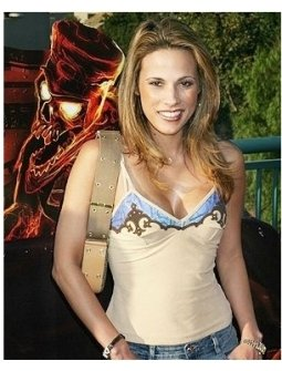 Bonnie-Jill Laflin at the opening of The Revenge of the Mummy-The Ride at Universal