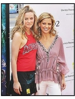 "Alicia Silverstone and Sarah Michelle Gellar at the ""Scooby-Doo 2: Monsters Unleashed"" Premiere"
