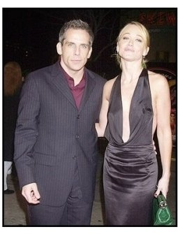 "Ben Stiller and wife Christine Taylor at the ""Starsky & Hutch"" Premiere"