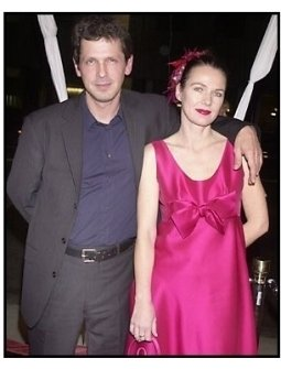 "Director Peter Webber and wife Pip at the ""Girl with a Pearl Earring"" premiere"
