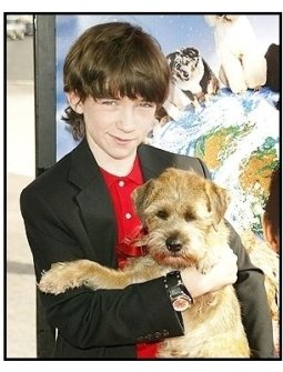 """Liam Aiken and Hubble at the """"Good Boy!"""" Premiere"""