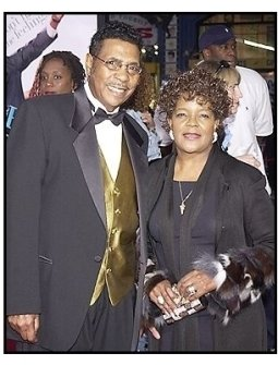 """The Reverend Shirley Caesar and her husband  at """"The Fighting Temptations"""" premiere"""