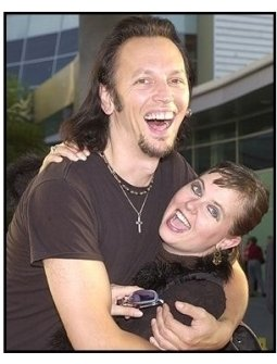 "Steve Valentine and wife Sherry at the ""American Splendor"" premiere"