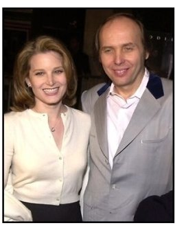 Dwight Yoakam and Bridget Fonda at the Panic Room premiere