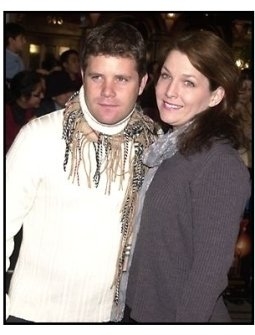 Sean Astin and wife Christine at the Harry Potter premiere