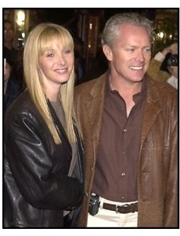 Lisa Kudrow and husband at the Harry Potter premiere