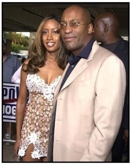 John Singleton and date at the Baby Boy premiere