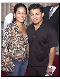 Jacob Vargas and date at the Dr. Dolittle 2 premiere