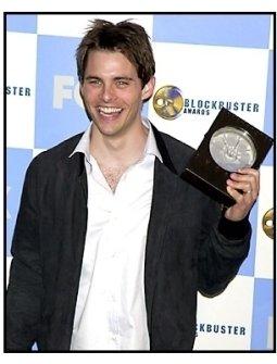 James Marsden backstage at the 2001 Blockbuster Entertainment Awards