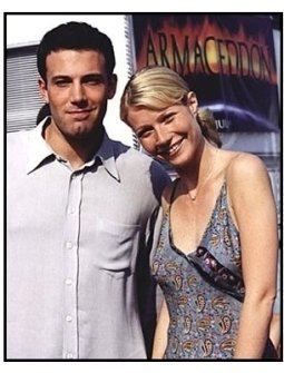 Ben Affleck and Gwyneth Paltrow at the Armageddon premiere