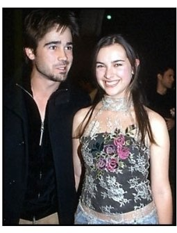 Colin Farrell and Amelia Warner at the Quills premiere