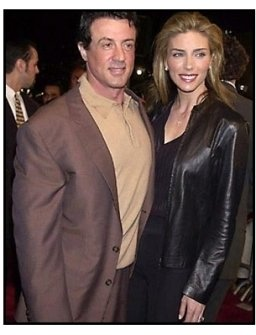 Sylvester Stallone and wife at the Exit Wounds premiere