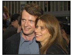 Aidan Quinn and wife Elizabeth Bracco at the Minority Report premiere
