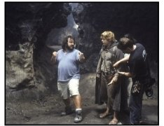 """""""The Lord of the Rings: The Return of the King"""" Movie Still: Peter Jackson and Sean Astin"""