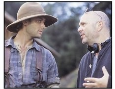 """Cold Mountain"" Movie Still: Jude Law & director Anthony Minghella"