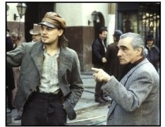"""Gangs of New York"" movie still: Leonardo DiCaprio (L) and Martin Scorsese"