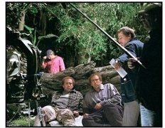 Adaptation movie still:Twin brothers Charlie, left, and Donald Kaufman (both played by Nicolas Cage) get in over their heads in the Florida Everglades in Adaptation