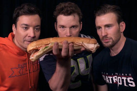 Jimmy Fallon, Chris Pratt, Chris Evans