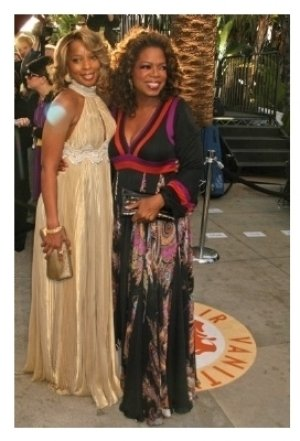 Mary J. Blige and Oprah Winfrey