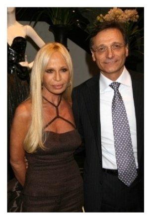 Donatella Versace and Giancarlo Di Risio