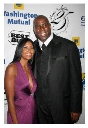 Cookie Johnson and Magic Johnson