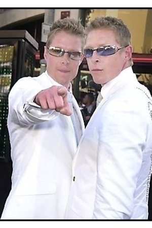 """Neil and Adrian Rayment at """"The Matrix Reloaded"""" premiere"""