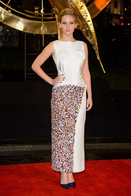 Jennifer Lawrence, Hunger Games Premiere London 2013