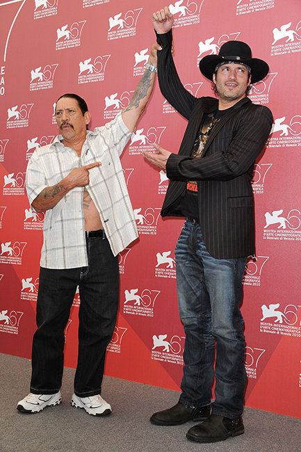 Robert Rodriguez and Danny Trejo