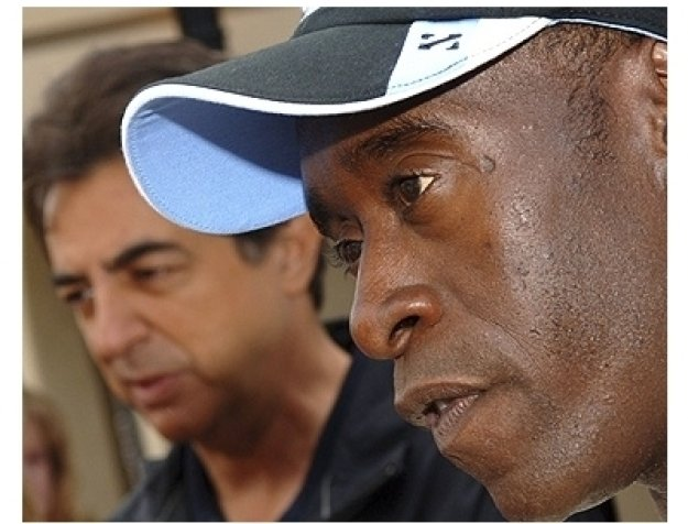 Joe Mantegna and Don Cheadle