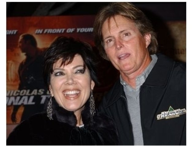 Bruce Jenner and wife Kris at the National Treasure Premiere